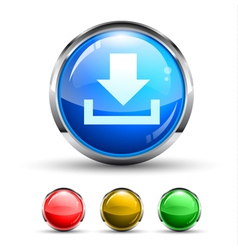 download glossy button vector image vector image
