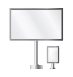 Pillar banner billboard ad vector image