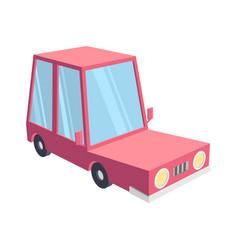 abstract creative funny cartoon car set isolated vector image
