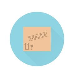 Box flat design vector image