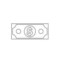 denomination of the dollar vector image