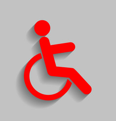 disabled sign red icon with vector image vector image