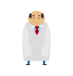 Medical man on white coat Cartoon Character Flat vector image