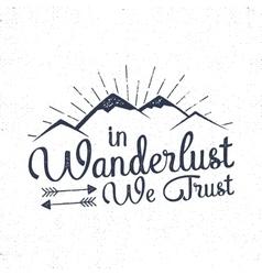 Mountain Camping badge Hand drawn t shirt Print vector image
