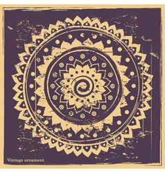 purple Indian ornament vector image