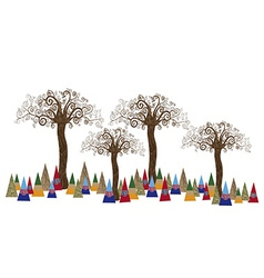 Tree forest art concept vector image
