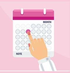 woman calendar concept vector image