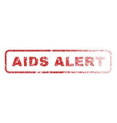 aids alert rubber stamp vector image vector image