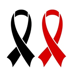 AIDS ribbon black vector image