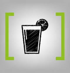 glass of juice icons black scribble icon vector image vector image