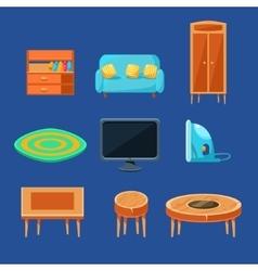 Living Room Furniture Set vector image vector image