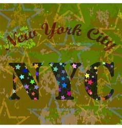 New York T-shirt Emblem Starry Basketball Logo vector image