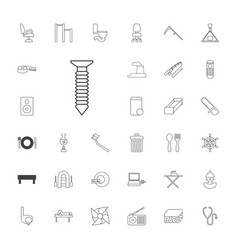 33 equipment icons vector