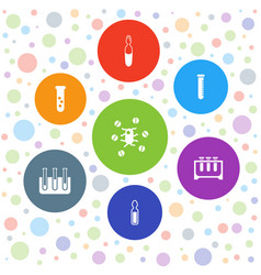 7 pharmacology icons vector