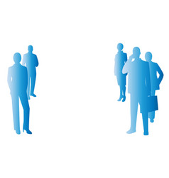 background blue business people vector image