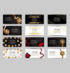 big collection set of luxury members gift card vector image