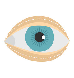 Blepharoplasty icon isolated vector