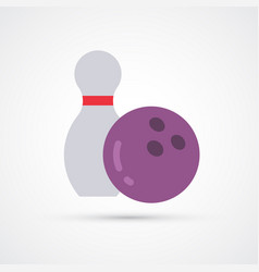 bowling colored ball symbol vector image