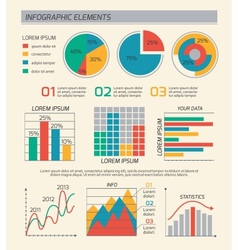 Business diagrams template layout vector