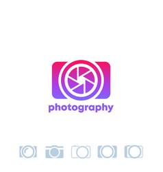Camera photography logo icons set vector