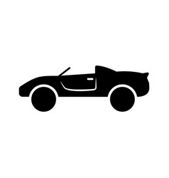 car icon in flat style symbol vector image