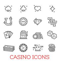 Casino symbols set vector