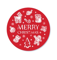 Christmas card round vector