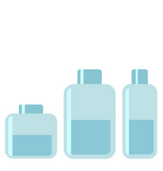 collection of various beauty hygiene containers on vector image