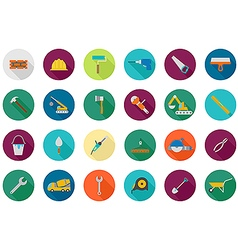 Construction round icons set vector image