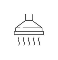 Cooker hood line outline icon vector