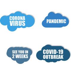 Coronavirus icon covid-19 icon pandemic vector