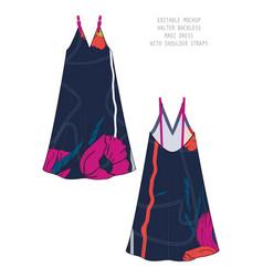 Customizable garment template vector