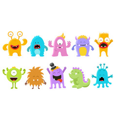 Cute monster collection vector