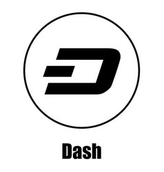 Dash icon simple style vector