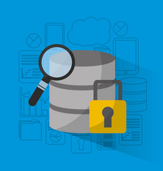 data base storage security analysis search vector image
