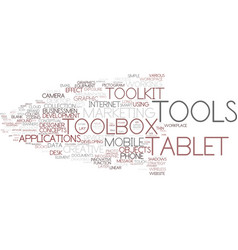Digital tools word cloud concept vector