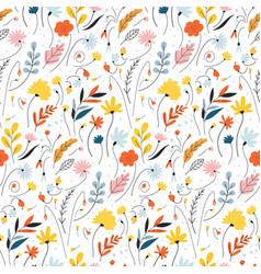 Ditsy floral background elegant template vector