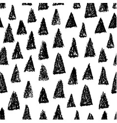 Doodle hand drawn seamless pattern with triangles vector