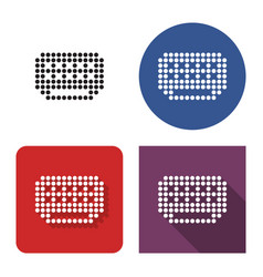 Dotted icon air conditioner in four variants vector