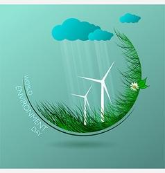 Ecological card vector