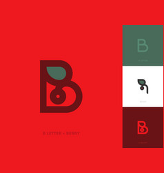 elegant line style logo template with letter b vector image