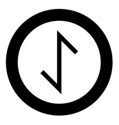 Eywas rune yew strength egis symbol icon black vector