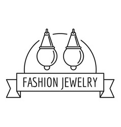fashion jewelry logo outline style vector image