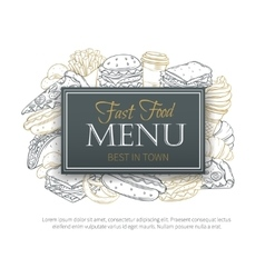 Fast food design menu vector