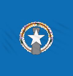 Flag northern mariana islands in wind vector