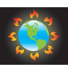 global warming vector image