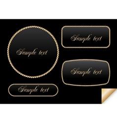 Golden sign on chain frame vector image