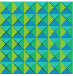 green retro abstract tile design background vector image