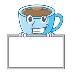 grinning with board cup of delicious cartoon milk vector image