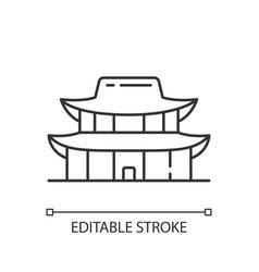 Gyeongbok palace linear icon vector